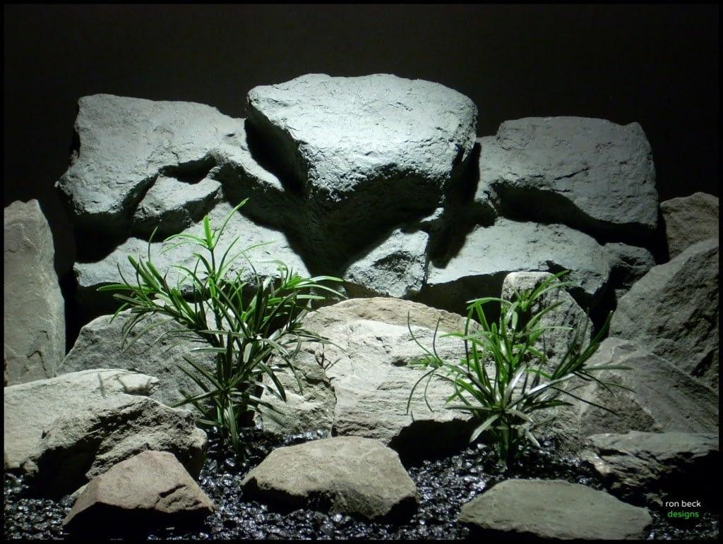 plastic aquarium plants sword leaf bush ron beck designs pap234
