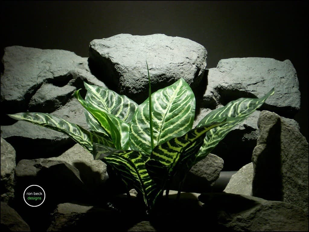 silk reptile plant zebra plant real touch srp163 from ron beck designs