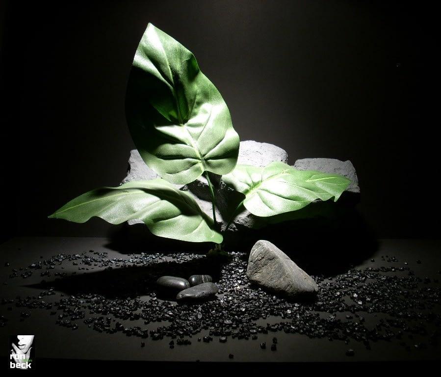 reptile habitat plants xl grn lvs sap238 silk ron beck designs