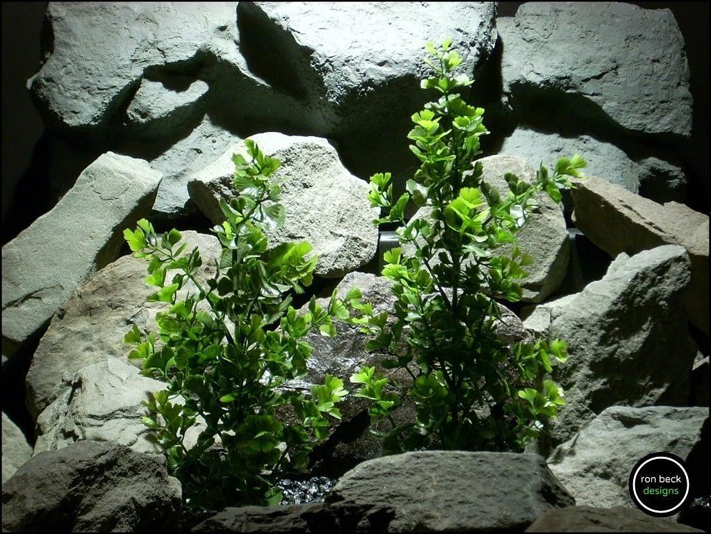 plastic aquarium plant ginkgo biloba bush from ron beck designs. pap187