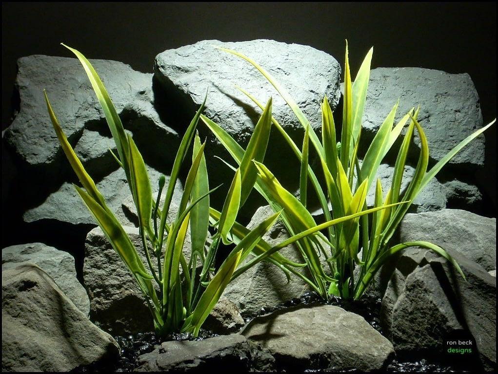 plastic aquarium plant arrowhead grass set 2 pap117 by ron beck designs