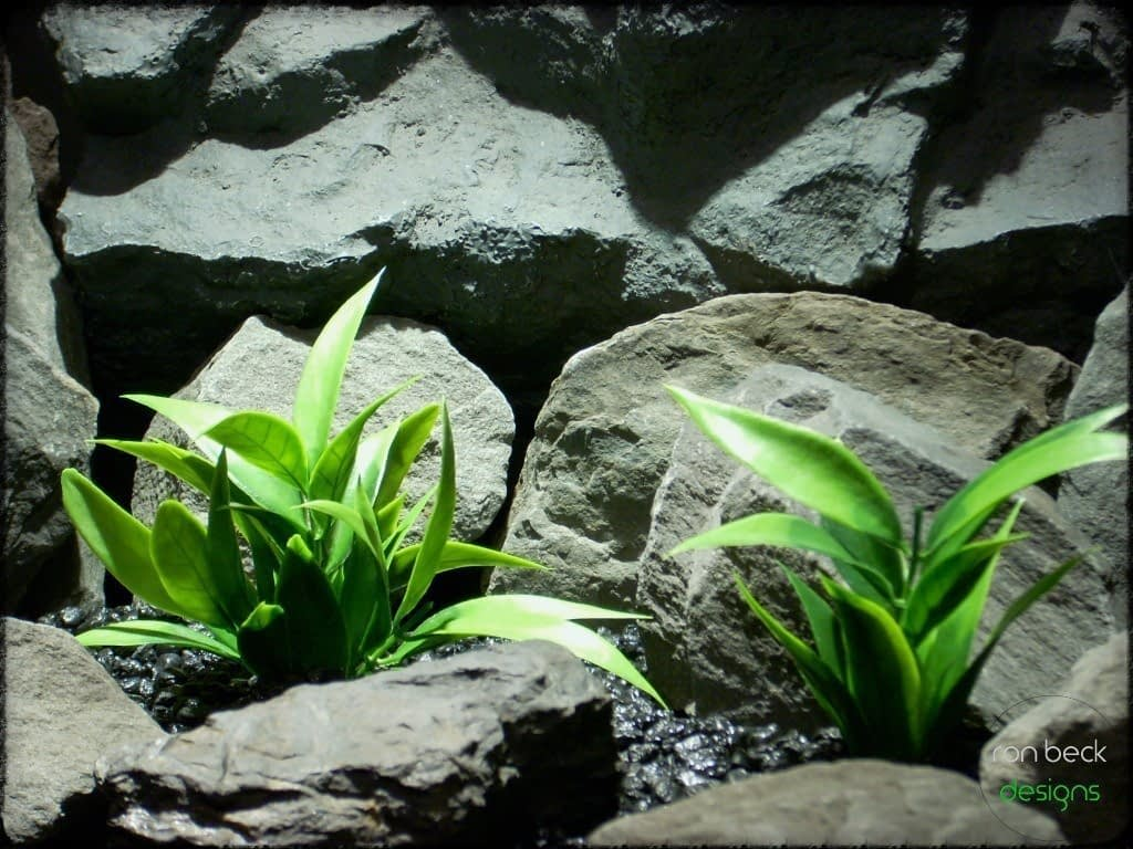 artificial aquarium plants: spear leaves from ron beck designs