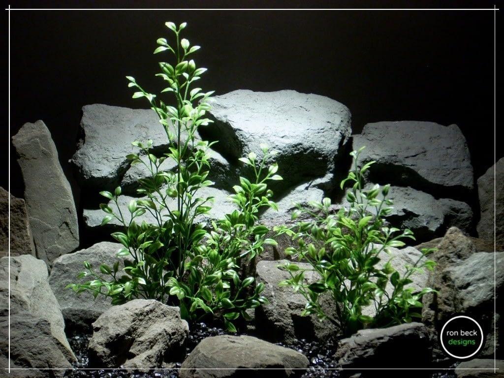 plastic aquarium plants- tea leaf bushes from ron beck designs pap211 (1)