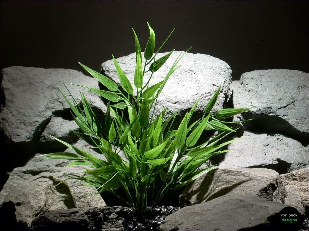 plastic aquarium plants bamboo bush pap081