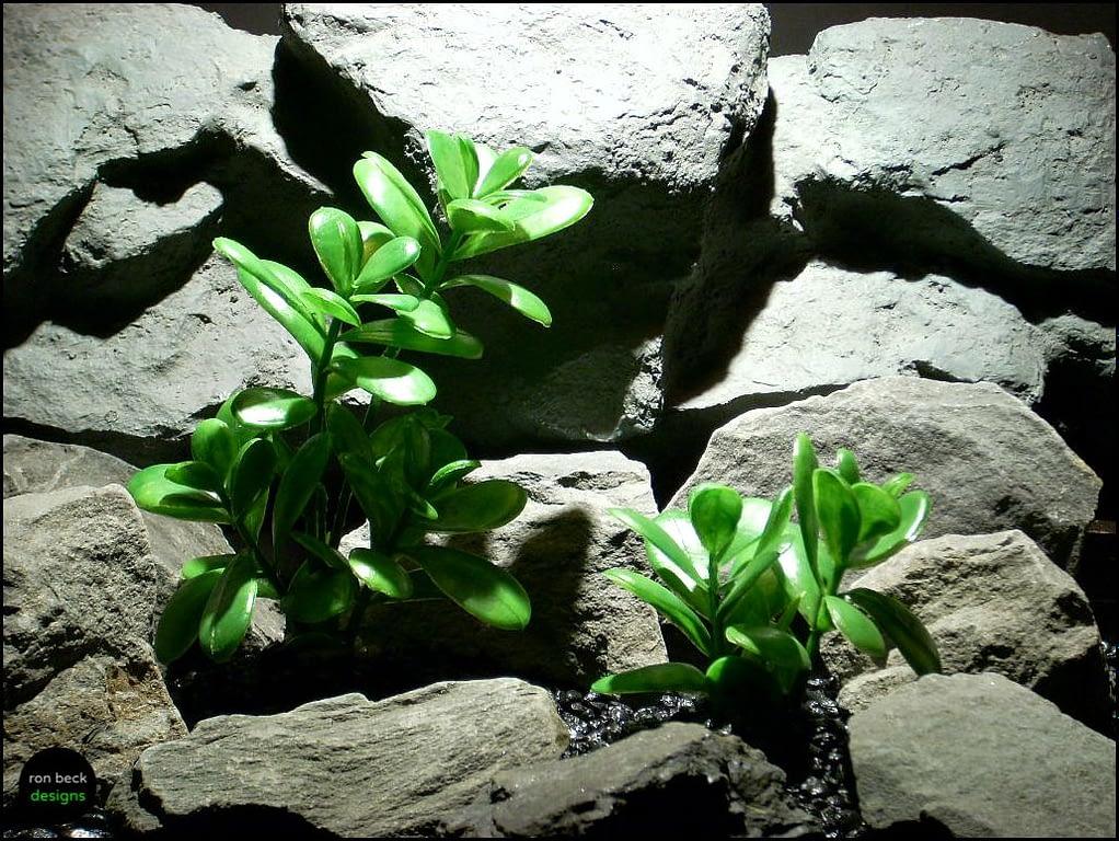 plastic aquarium plant jade plant bush's pap114 by ron beck designs