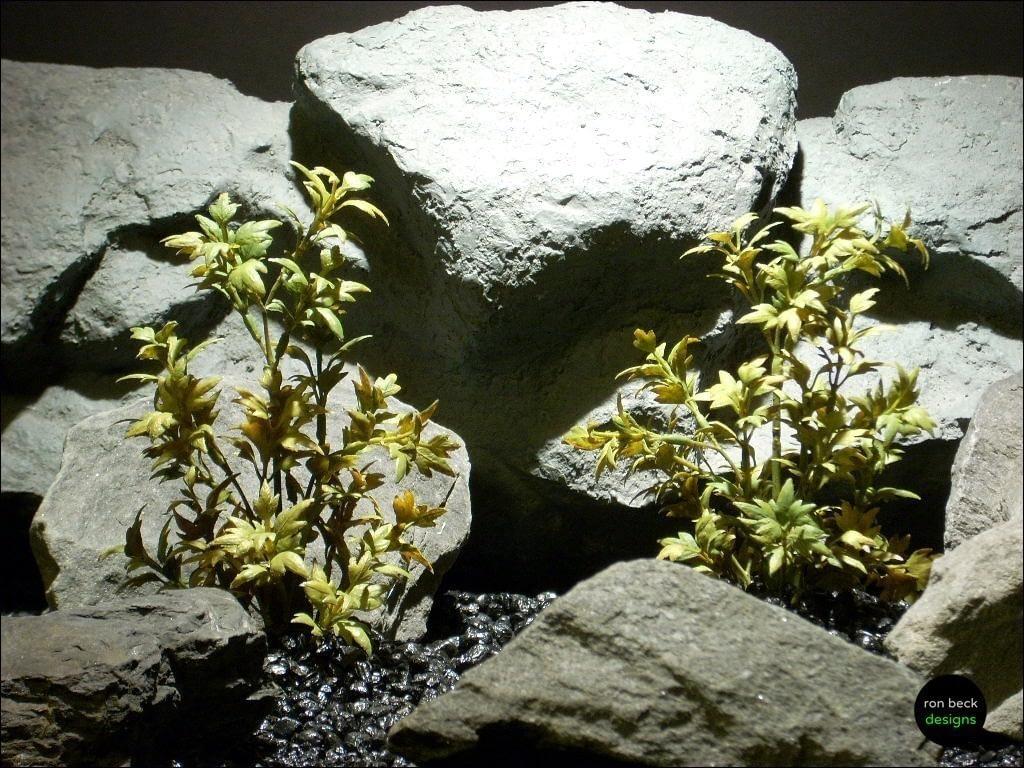 plastic aquarium plants mini ming arailia olive parp086 ron beck designs