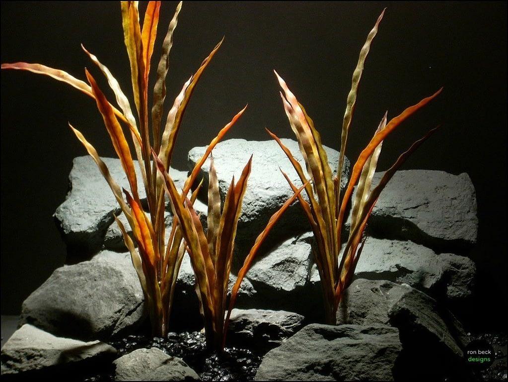 plastic aquarium decor plants fall reeds pap097 by ron beck designs