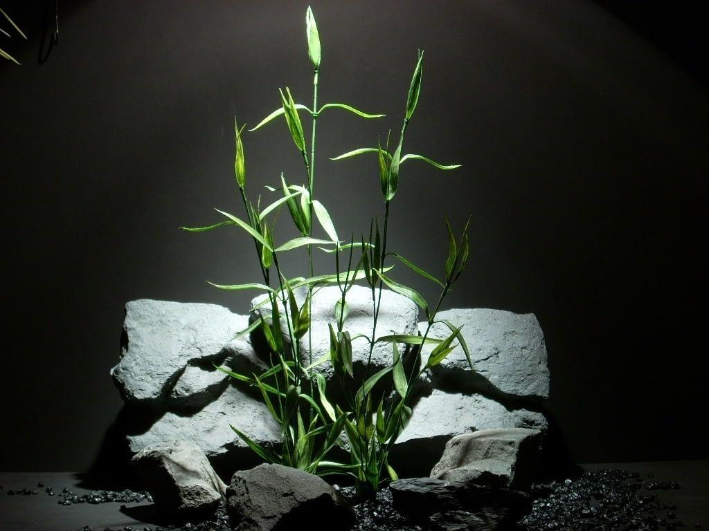 plastic aquarium plant bamboo pap089