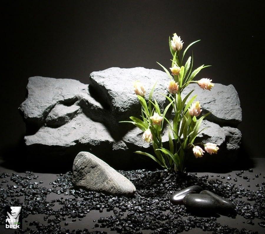 plastic aquarium plants pink protea pap170 plastic  ron beck designs