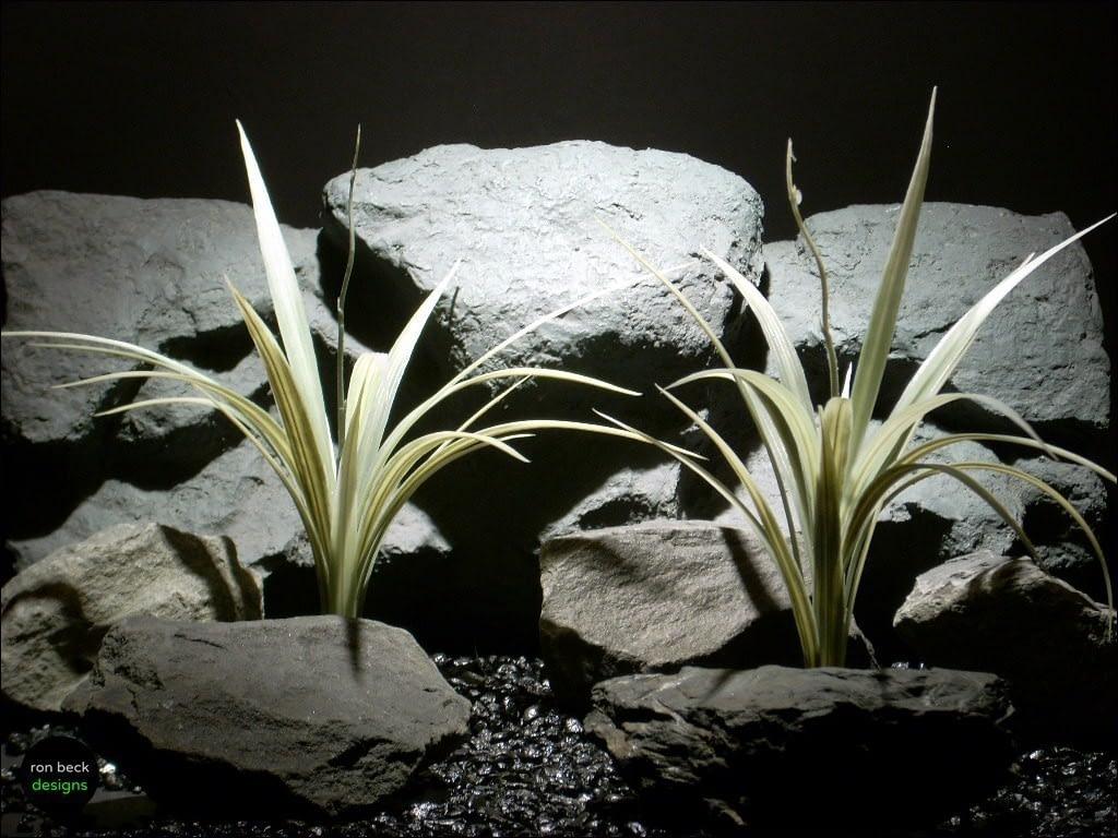 plastic aquarium plants vanilla grass cream parp085 ron beck designs