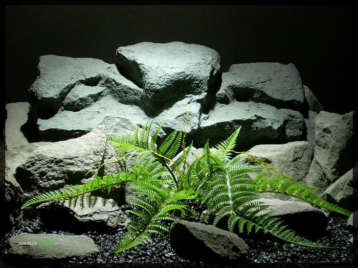 Artificial Plastic Fern - Artificial Reptile Plant - prp330