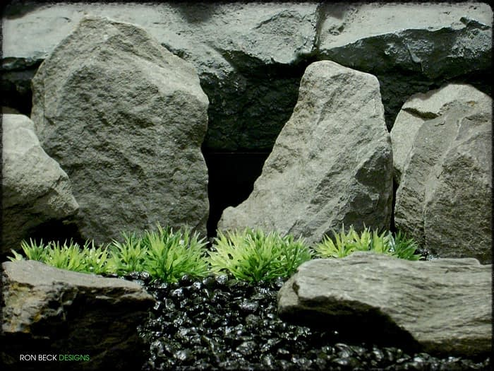 Low Saw-blade Grass Plot - Artificial Aquarium Plant - parp323