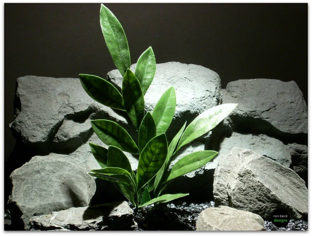 plastic aquarium plants bay leaf pap090 ron beck designs