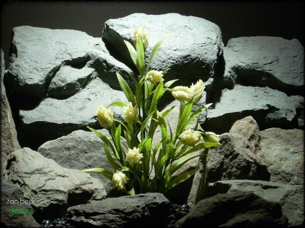 plastic aquarium plants: protea plant from ron beck designs pap220
