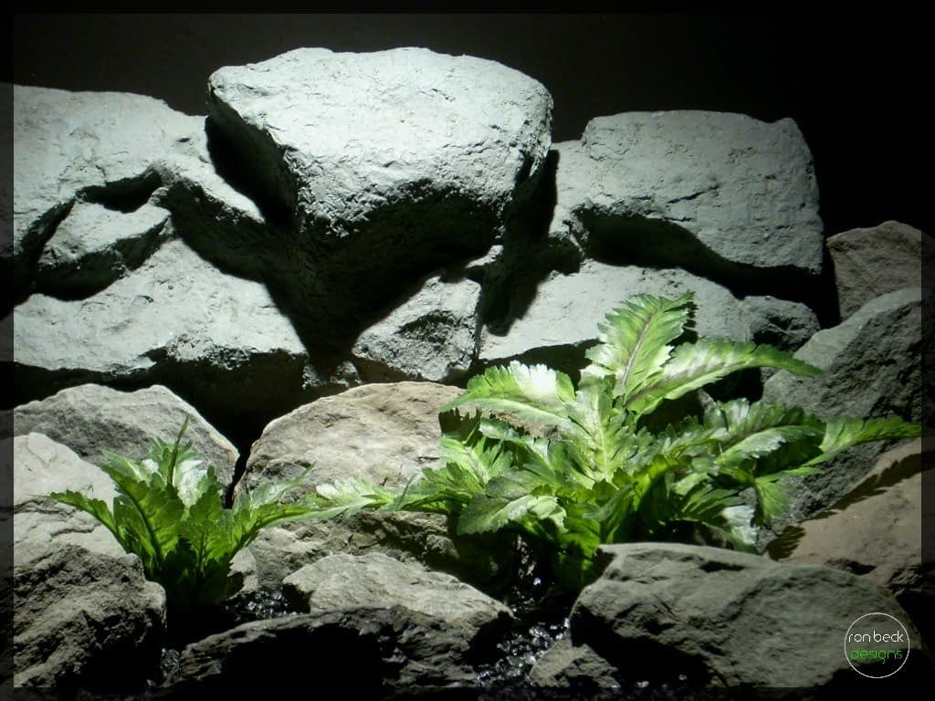 bracken ferns | silk reptile plants srp248 | ron beck designs