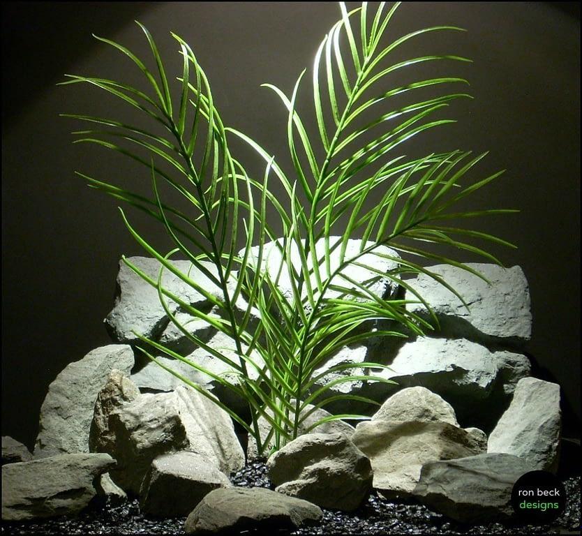 plastic aquarium plant palm grass pap147 from ron beck designs