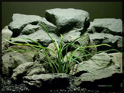 Artificial Aquarium Decor Plant - Mad Grass - Ron Beck Designs parp334
