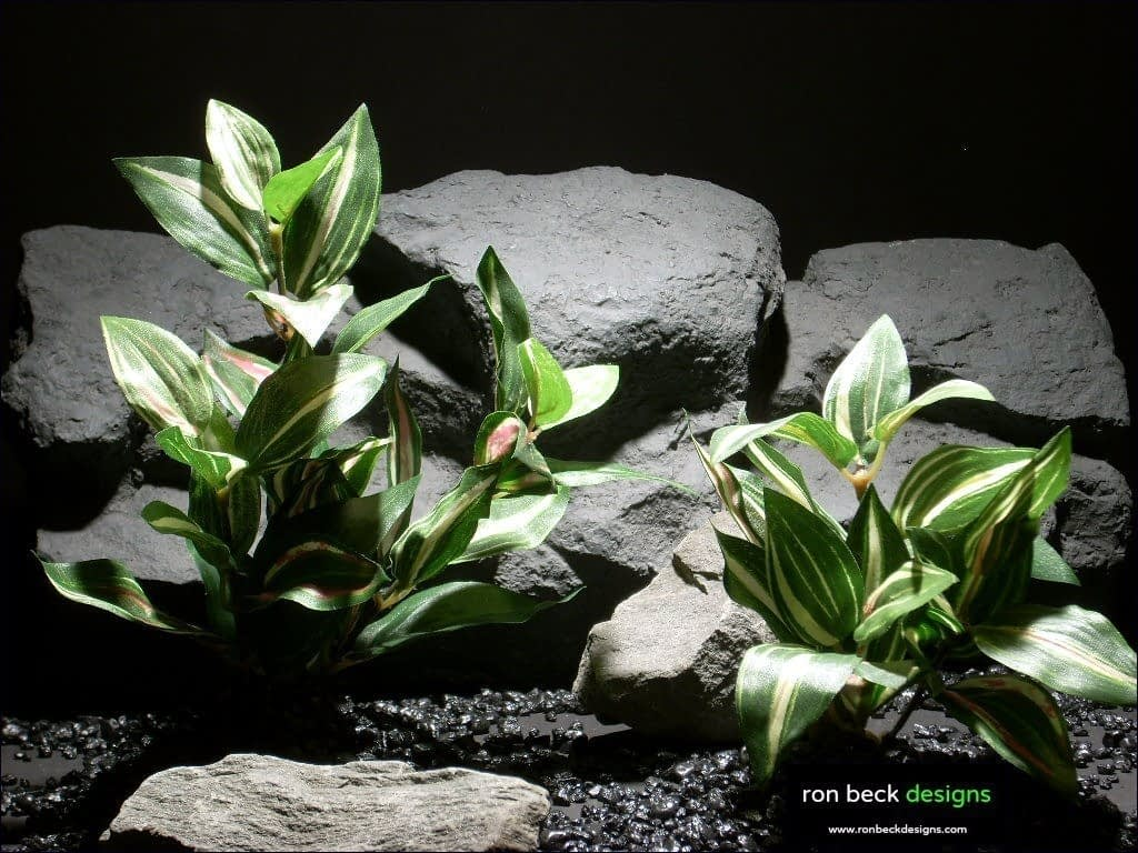 silk aquarium plants purple heart pair sarp020 by ron beck designs