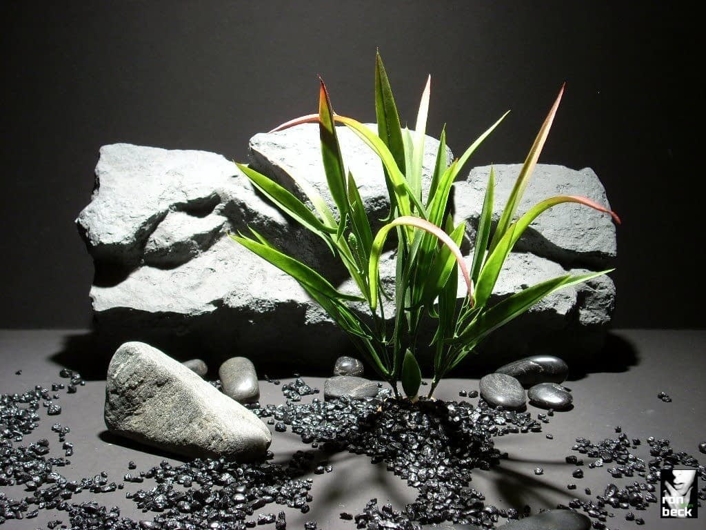 plastic aquarium plants blade grass red tip pap160 plstc. ron beck designs