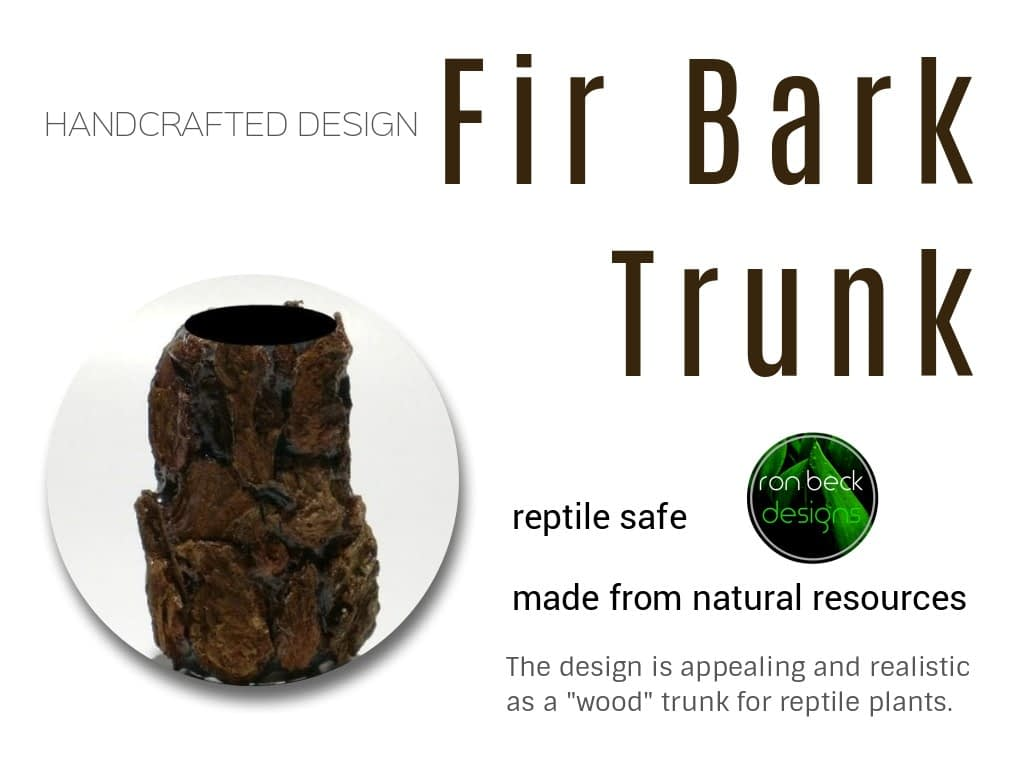 fir bark trunk | artificial reptile plants | ron beck designs 1024 768