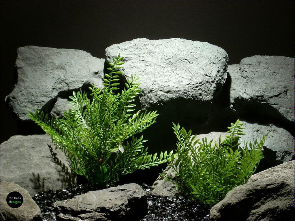 plastic aquarium decor plant leafy leaves by ron beck designs