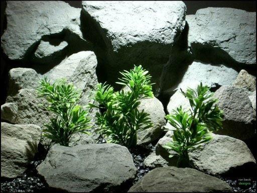 plastic aquarium plants mini leaf bush's pap133 from ron beck designs