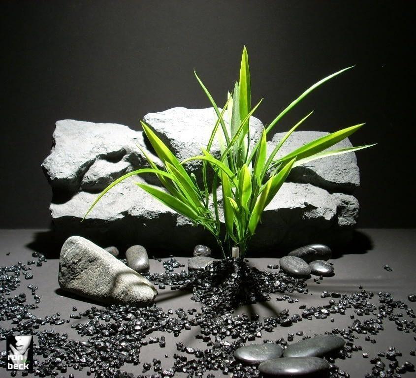 plastic aquarium plants blade grass green pap171 plstc. ron beck designs