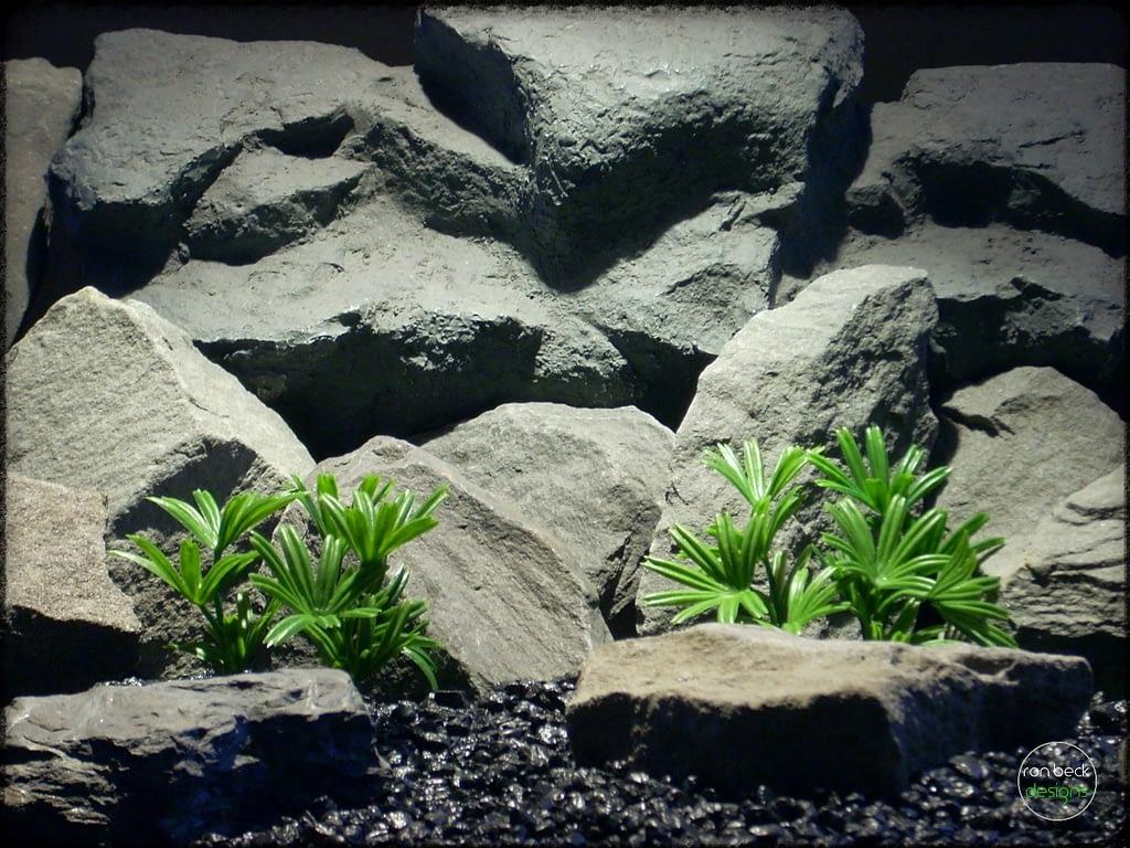 Lady Palm - Artificial Aquarium Reptile Plants - ron beck designs - parp304