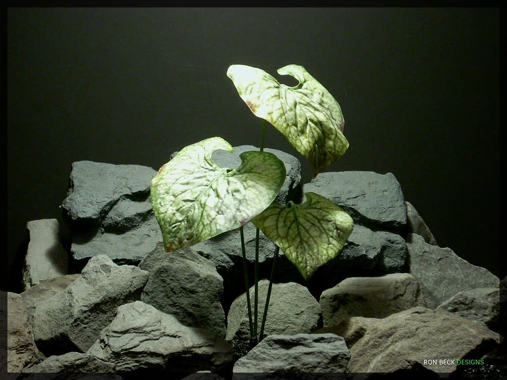 Artificial Coleus Leaves - Artificial Silk Reptile Plant srp325
