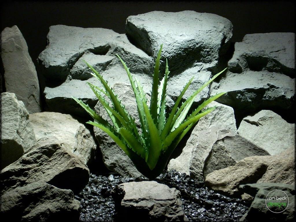 Artificial Aloe Vera Succulent - Artificial Reptile Plant - prp316