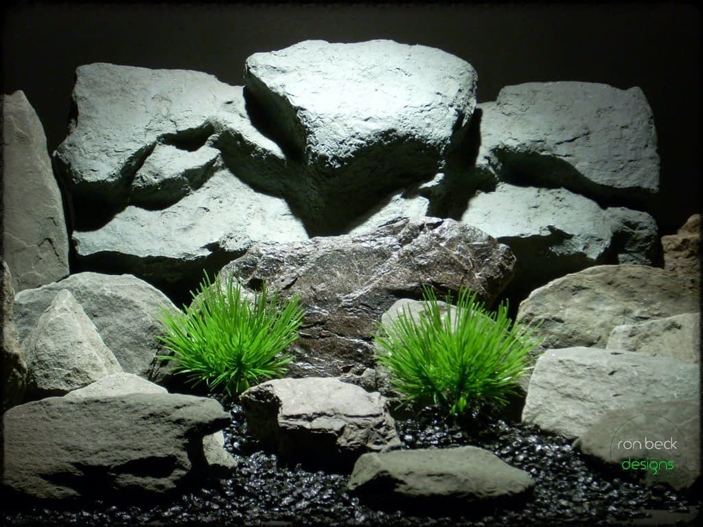 plastic aquarium plants: pine needle grass from ron beck designs pap215