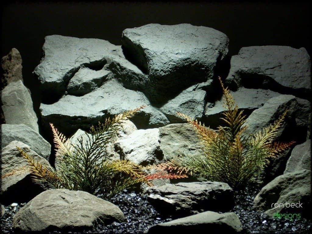 plastic aquarium plants: spiked ferns from ron beck designs