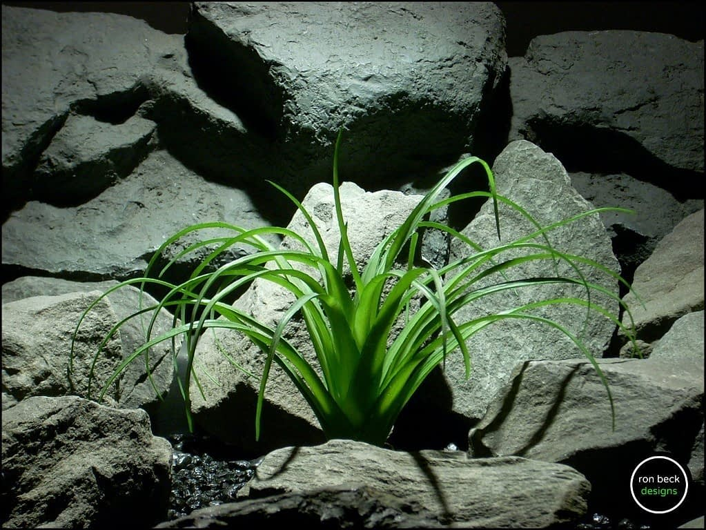 plastic pony tail palm reptile plant from ron beck designs prp180