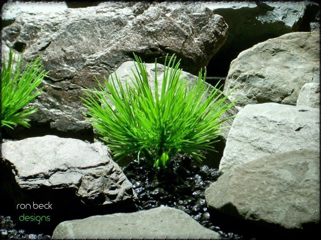 plastic aquarium plants: pine needle grass from ron beck designs pap215 2