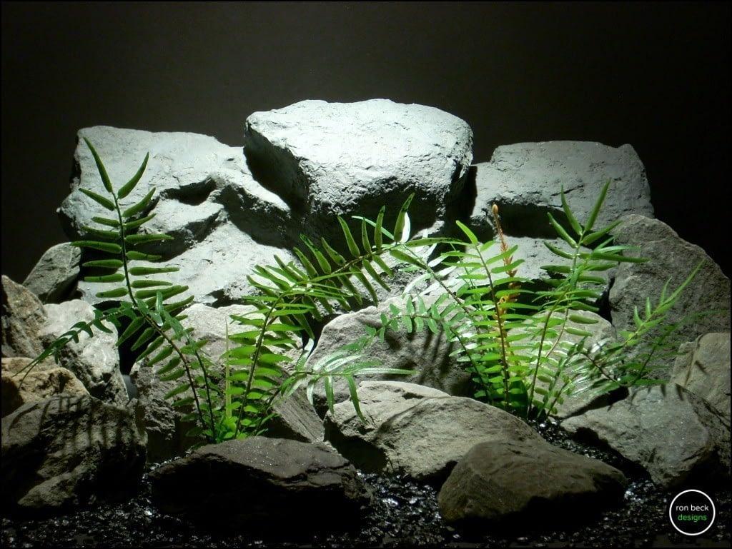 plastic reptile plants| terrarium plants: artificial boston fern prp158 from ron beck designs.