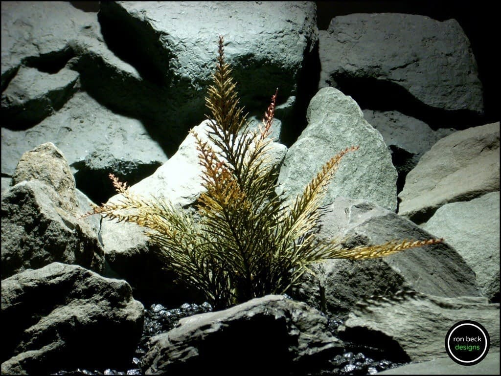 plastic aquarium plant spiked fern pap178 from ron beck designs