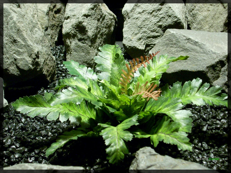Artificial Silk Reptile Habitat Plant - Silk Bracken Fern srp343
