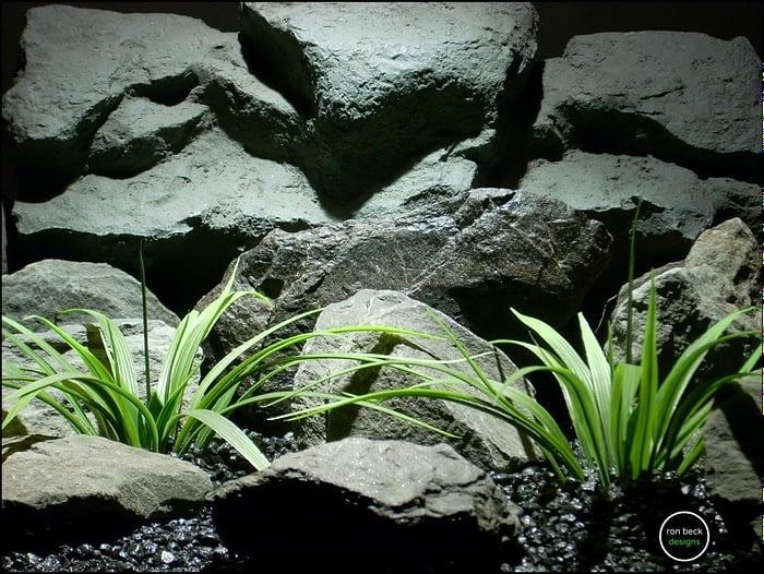 faux aquarium plants leaf blades from ron beck designs. parp207