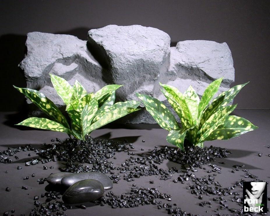 silk aquarium plants croton leaves variegated sap392 ron beck designs