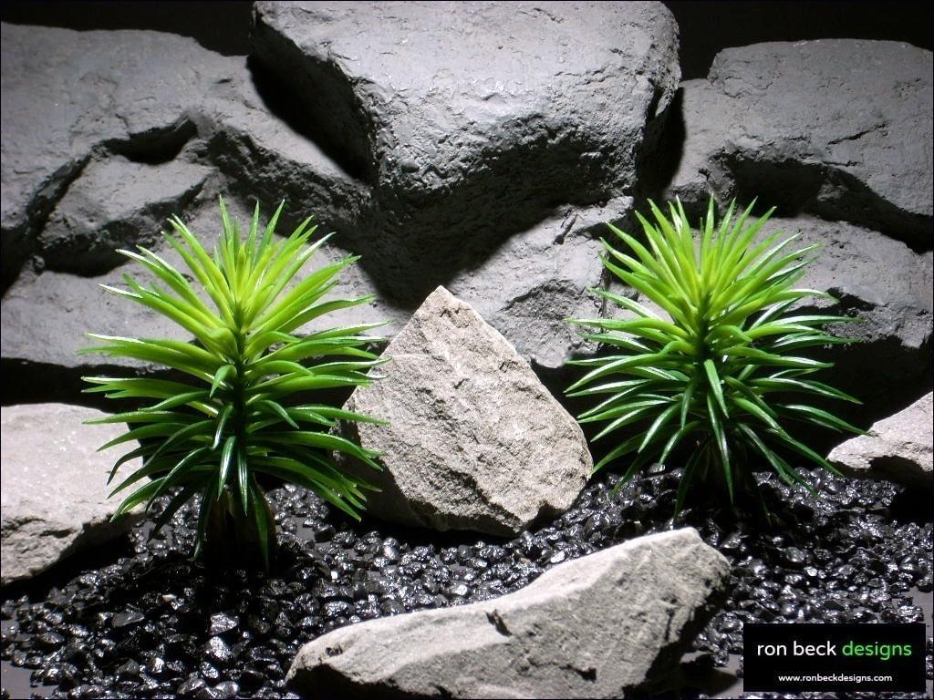 reptile habitat plants pine bush succulent parp023 plastic  ron beck designs
