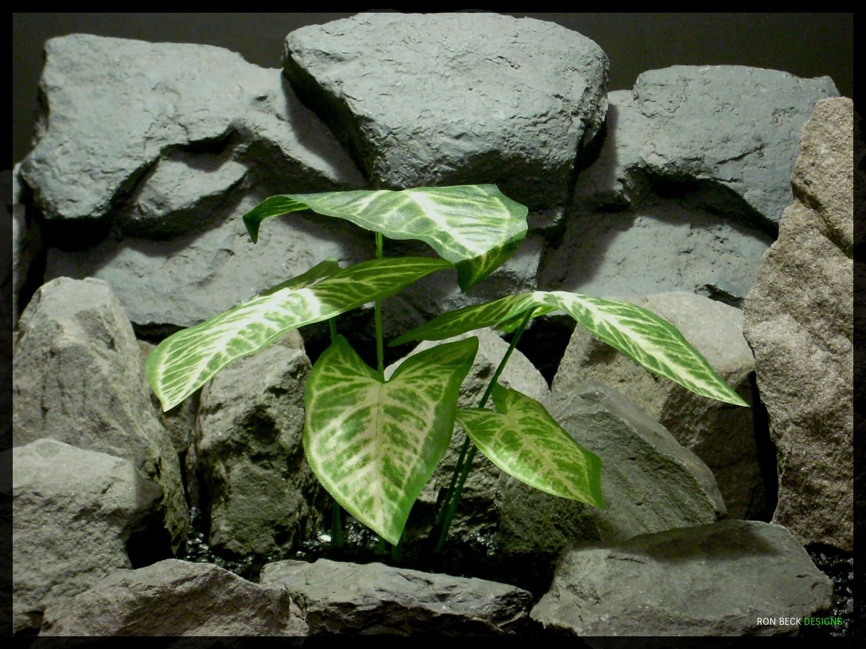 Artificial Silk Syngonium Plant - Silk Reptile Tank Plant - srp345