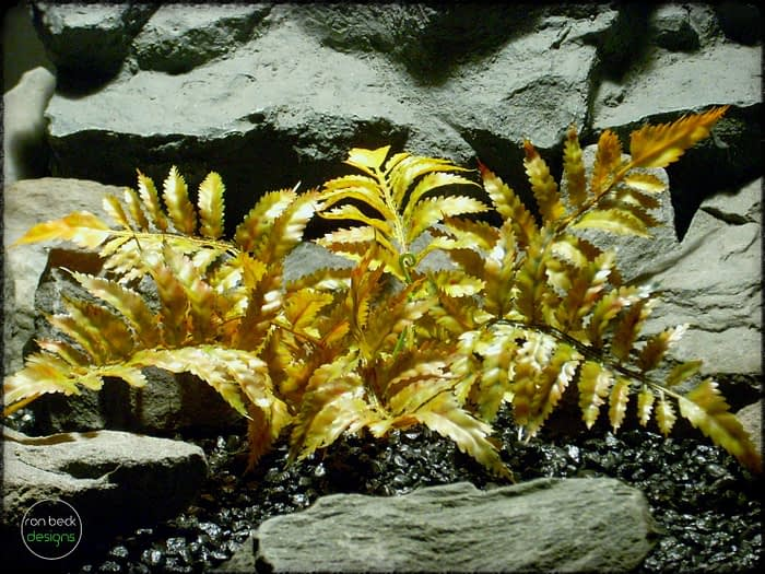 Forest Fern - Artificial Reptile Plant - Ron Beck Designs prp311 2