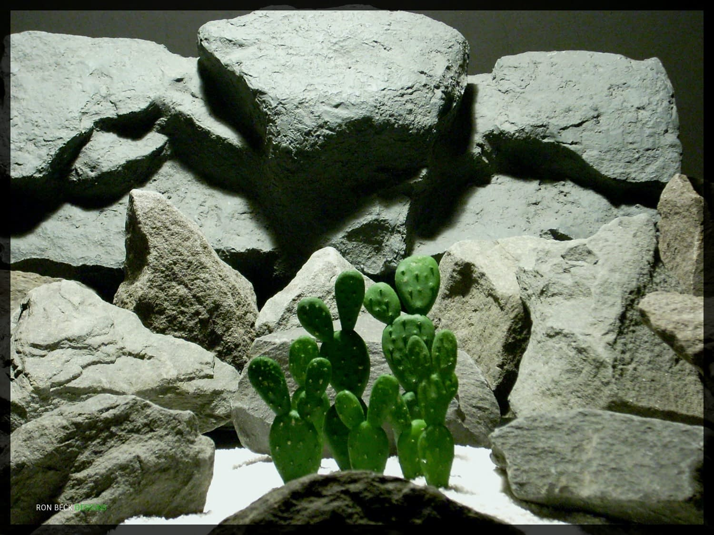 Artificial Beautertia Cactus - Artificial Reptile Desert Cactus Plant - prp347 - prp347