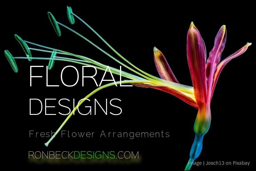 Floral Designs - Fresh Flower Arrangements - Ron Beck Designs - Yellow Shadow