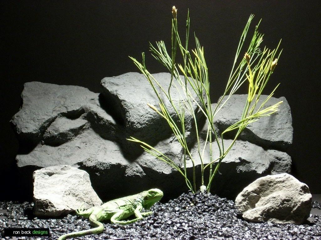 reptile habitat plants minimal stems pap150 plastic  ron beck designs
