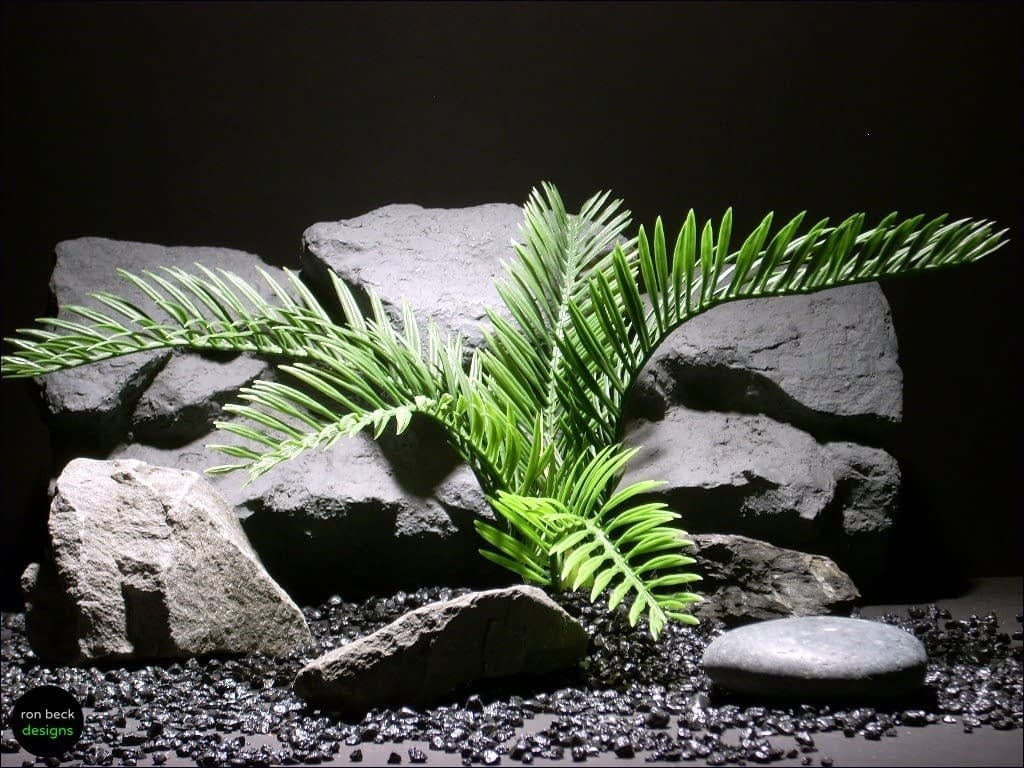 plastic reptile snake habitat plant cycas palm custom | ron beck designs prp039