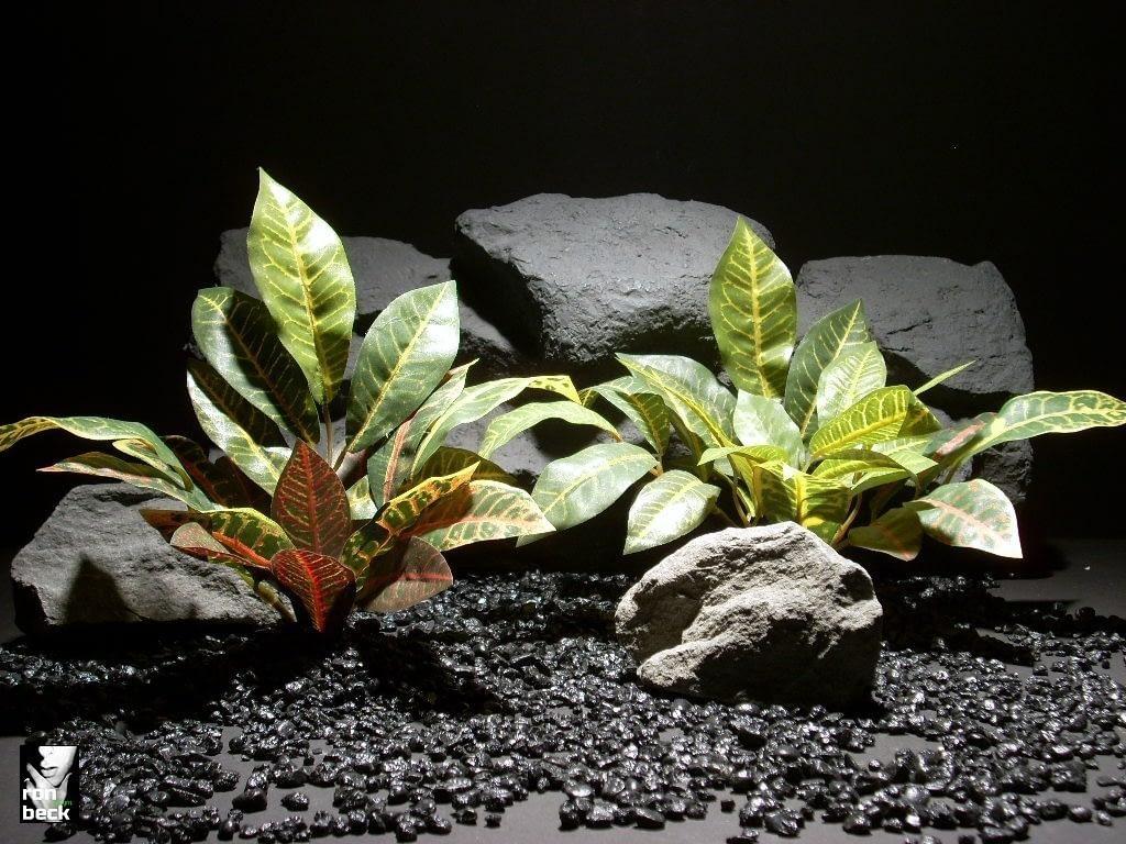 aquarium plants mini croton leaves set sap407 silk