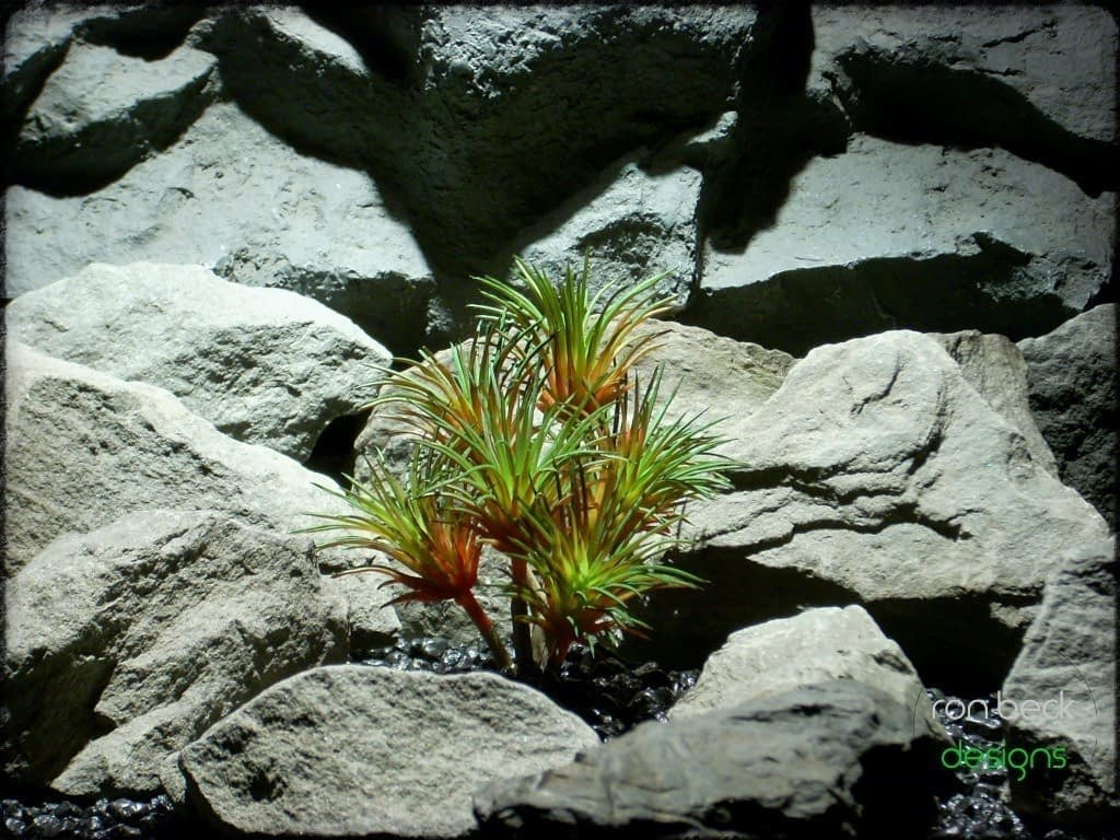 artificial reptile plants: artificial succulent red and green from ron beck designs prs219