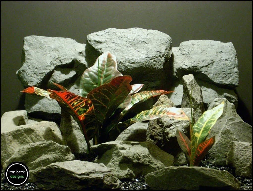silk reptile plants: croton leaves (srp157) from ron beck designs.