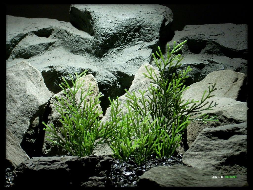 Artificial Cedar Greens - Artificial Aquarium Plant - Reptile Habitat Plant - parp337 (1)